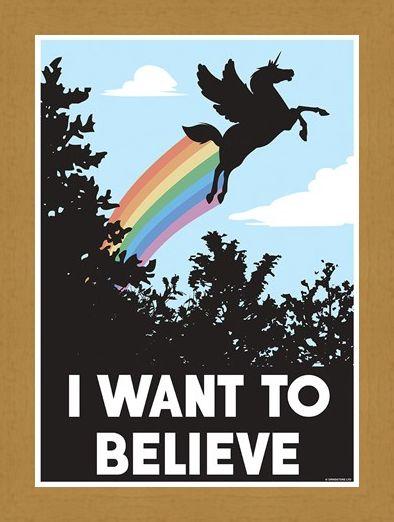 Framed Framed Delusional Unicorn - I Want To Believe