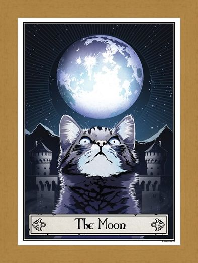 Framed Framed The Moon - Deadly Tarot Felis