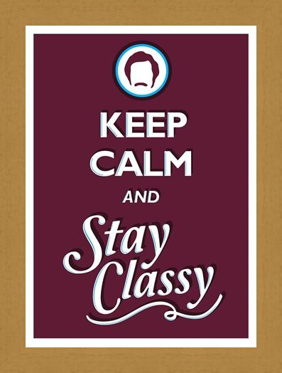 Framed Framed Keep Calm & Stay Classy - Keep Calm & Carry On