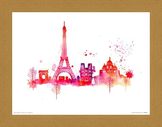 Framed Framed Paris Skyline - Summer Thornton