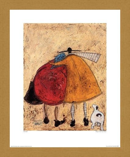 Framed Framed Hugs On The Way Home - Sam Toft