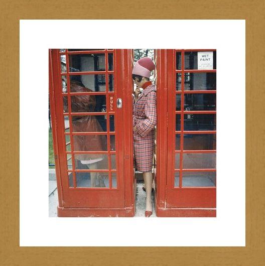 Framed Framed Phone Box - London 1963
