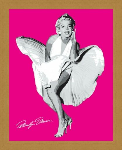 Framed Framed Shocking Pink Marilyn - Marilyn Monroe in The Seven Year Itch