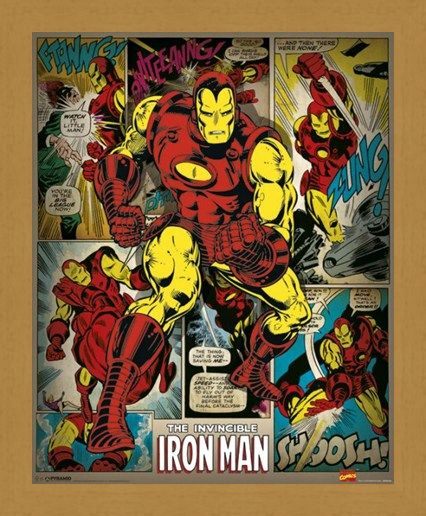 Framed Framed Hero To The Rescue - The Invincible Iron Man