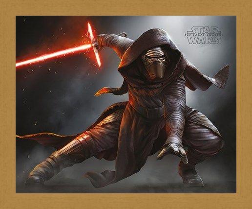 Framed Framed Kylo Ren Crouching - Star Wars Episode VII