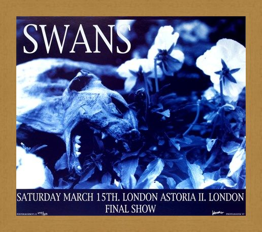 Framed Framed Swans at London Astoria II - Frank Kozik