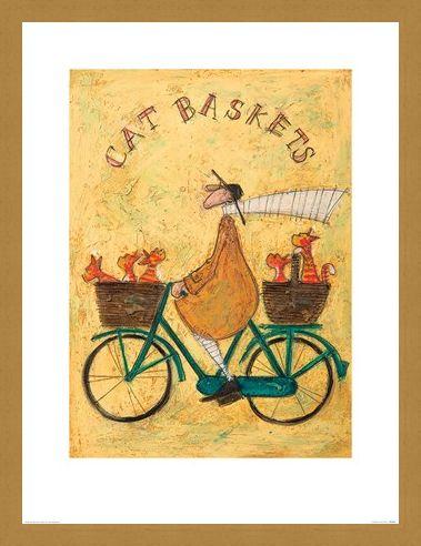 Framed Framed Cat Baskets - Sam Toft