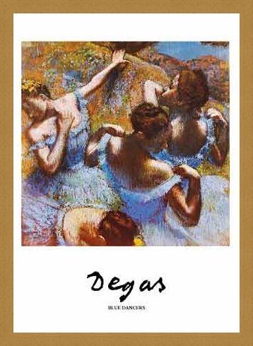Framed Framed Blue Dancer - Edgar Degas