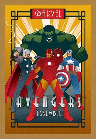 Framed Framed Avengers Assemble - Marvel Deco