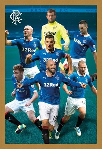 Framed Framed Star Players - Rangers Football Club 2014/15