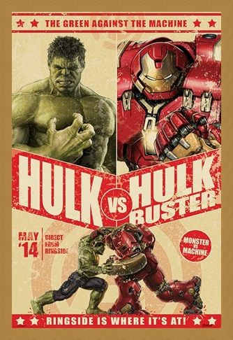 Framed Framed Hulk Vs Hulkbuster - Avengers Age of Ultron