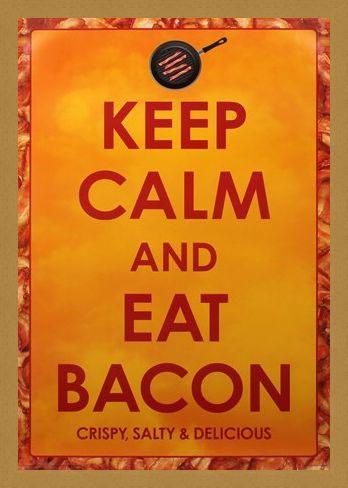 Framed Framed Crispy Salty & Delicious - Keep Calm and Eat Bacon
