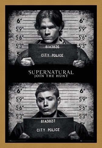 Framed Framed Horrifying Mug Shots - Supernatural