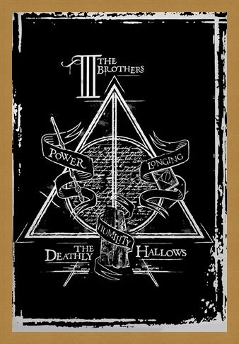 Framed Framed Deathly Hallows Graphic - Harry Potter