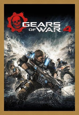 Framed Framed Game Cover - Gears Of War 4