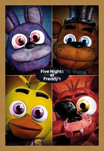 Framed Framed The Fazbear Gang - Five Nights At Freddy's