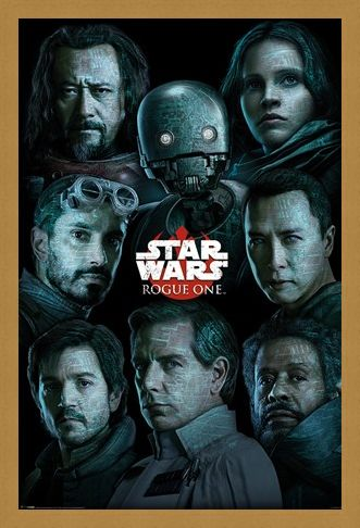Framed Framed The Rebel Alliance Versus The Empire - Star Wars Rogue One