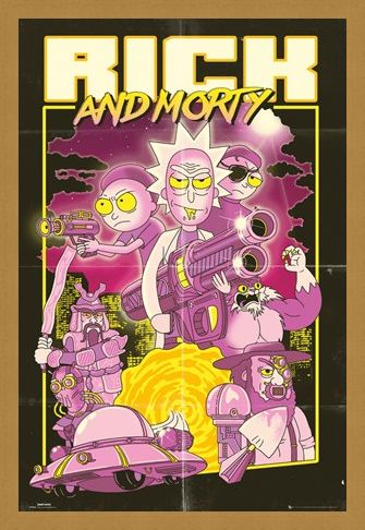 Framed Framed Action Movie - Rick and Morty