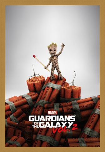 Framed Framed Groot Dynamite - Guardians Of The Galaxy Vol. 2