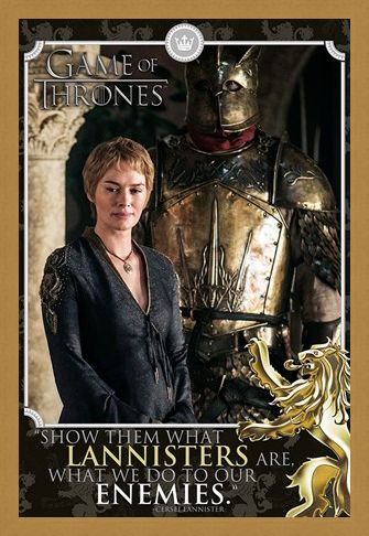 Framed Framed Cersei And The Mountain - Game of Thrones