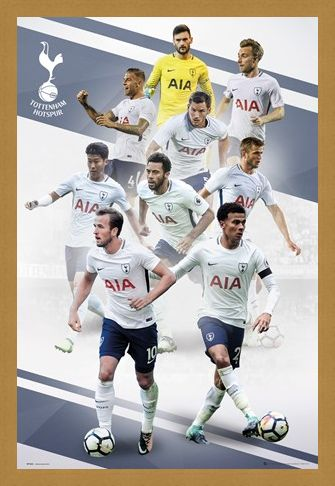 Framed Framed Players 17-18 - Tottenham FC