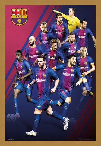 Framed Framed Players 17-18 - Barcelona