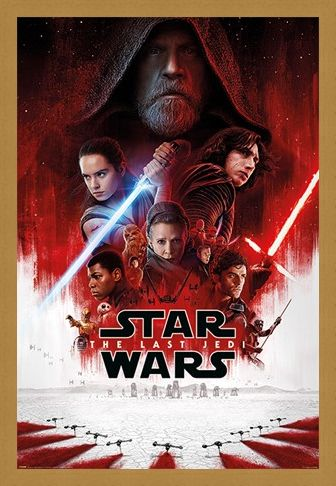 Framed Framed The Last Jedi One Sheet - Star Wars
