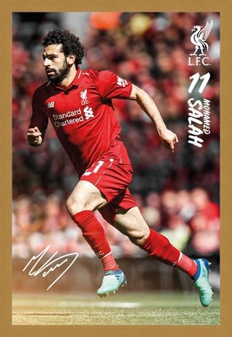 Framed Framed Salah 18/19 - Liverpool