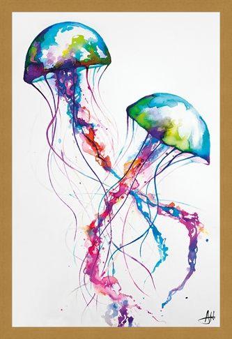 Framed Framed Jellyfish - Marc Allante