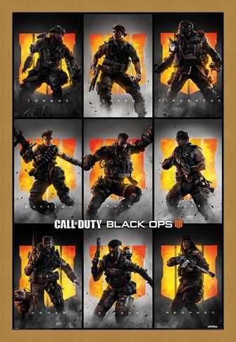 Framed Framed Black Ops 4 Characters - Call Of Duty