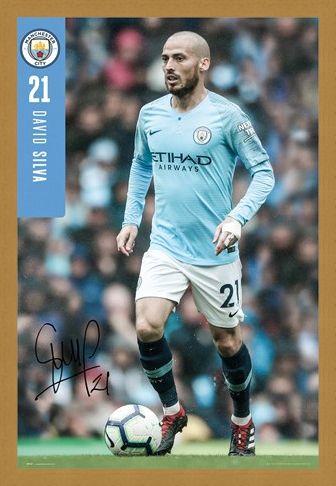 Framed Framed Silva 18-19 - Manchester City