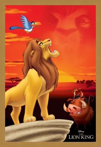 Framed Framed King of Pride Rock - The Lion King
