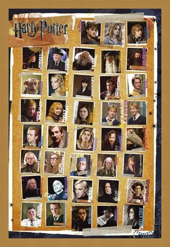 Framed Framed Character Montage - Harry Potter
