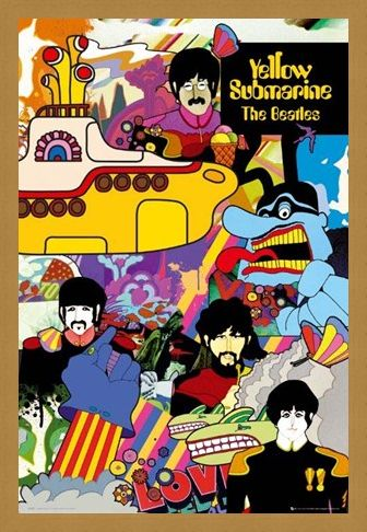 Framed Framed Yellow Submarine Collage - The Beatles