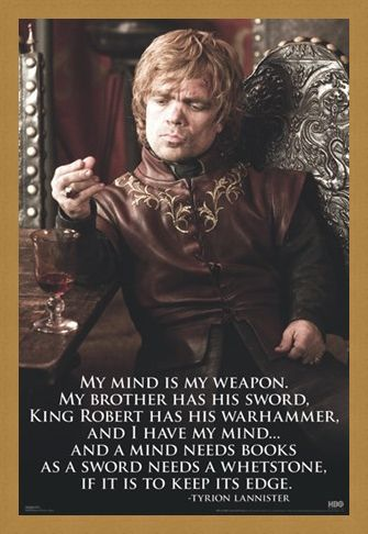 Framed Framed My Mind Is My Weapon - Game of Thrones