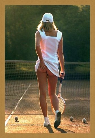 Framed Framed Tennis Girl - Martin Elliot