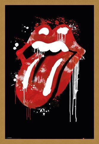 Framed Framed Graffiti Lips - The Rolling Stones