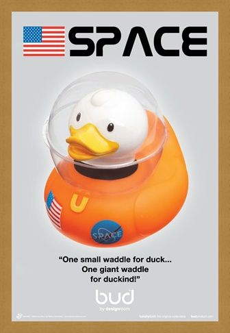 Framed Framed Space Duck - Bud Ducks