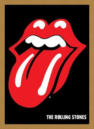 Framed Framed Tongue Logo - Rolling Stones