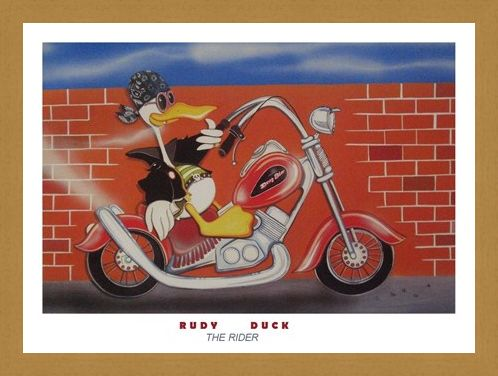 Framed Framed The Rider - Rudy Duck by G Servello