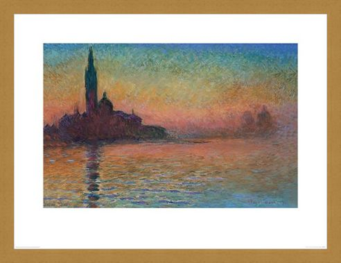 Framed Framed Sunset in Venice - Monet