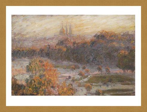 Framed Framed Les Tuileries - Claude Monet