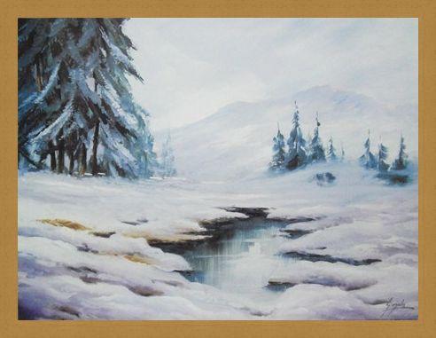 Framed Framed Winter in Comelico - B Gionola