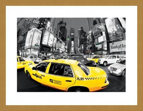 Framed Framed Rush Hour in Times Square - New York City