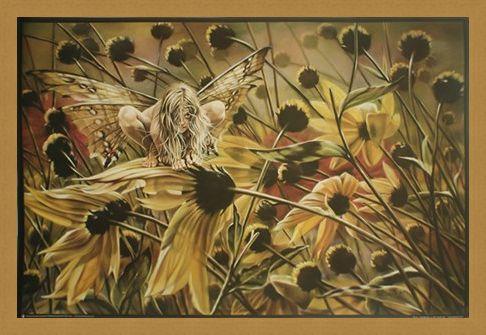 Framed Framed Chameleon Fairy - Sheila Wolk