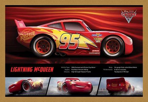 Framed Framed Lightning McQueen Stats - Cars 3