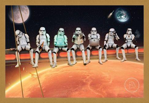 Framed Framed Stormtroopers On Girders - Lunch Break