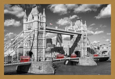 Framed Framed Traffic on Tower Bridge - Images of London
