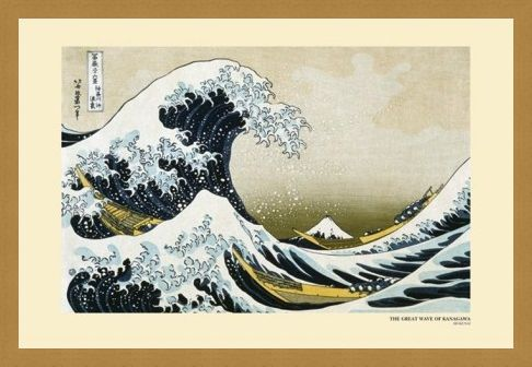 Framed Framed The Great Wave of Kanagawa, 1831-33 - Katsushika Hokusai