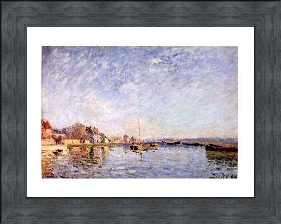 Framed Framed Canal Du Loing - Alfred Sisley